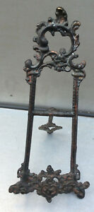 Small Victorian Table Top Easel Original Finish Complete W Easel Spelter Vgc