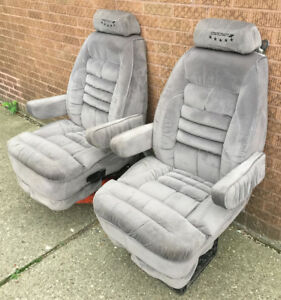 1999 Ford Starcraft Van 2 Cloth Reclining Front Seats Captain Chairs Chevy Dodge