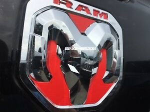 Fits New 2019 Only Dodge Ram Head 1500 Tailgate Emblem Overlay Decals