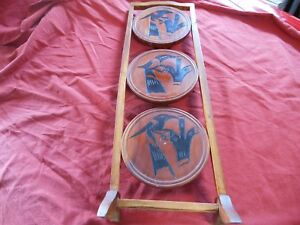 Antique Early American 3 Tier Plant Stand Planter Table Folding Early 20th Centu
