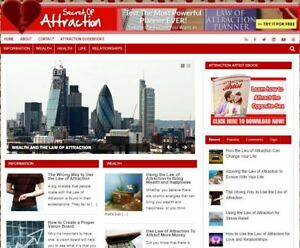 Law Of Attraction Ready Made Blog Established Turnkey Internet Business Website