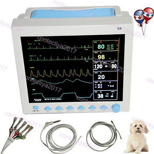 Usa Fedex contec Cms8000 Veterinary Vital Signs Patient Monitor animal vet 12 1