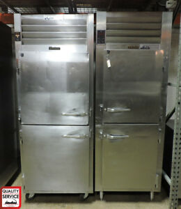 Traulsen Aht132wut Ss Solid Double Door Tray Slide Commercial Refrigerator
