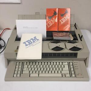 Bundle Vtg 1984 Ibm 674x Wheelwriter 5 Electric Typewriter 3 Lexmark Cartridge