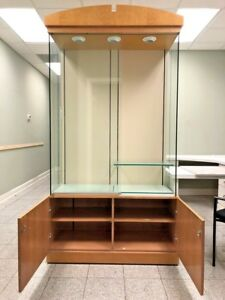 Elegant Glass Retail Display Cases For Jewelry Or Collectibles 8 Feet By 4 Fee
