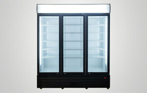 54 Wide 3 door Glass Back Bar Beverage Cooler Beer Fridge Refrigerator Nsf