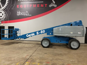 2006 Genie S60 500lb Pneumatic Telescopic Boom Lift Deutz Diesel 4x4 Aerial Lift