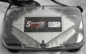 Soundoff Signal Mini Pinnacle Magnet Mount Amber Lightbar Epl71m Ac