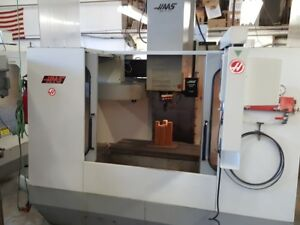 Used Haas Vf 2 Cnc Vertical Machining Center Mill Ct40 30x16 Rigid Tap 1994
