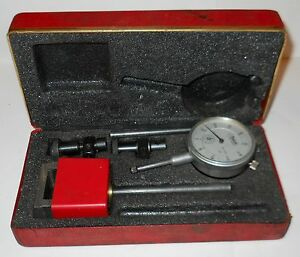 Central Tool Company universal Dial Test Indicator 260 In Red Box Vintage