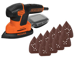 BLACK+DECKER Mouse Detail Sander with Bonus Sandpaper Hand Tool Portable New