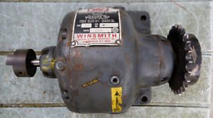 Vintage Winsmith 1h Size Differential Speed Reducer 1592 To 1 Ratio