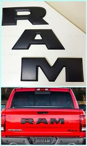 New Black Ram 1500 Tailgate Ram Emblem Letters Fit For 2015 2018 Dodge Ram