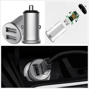 1x Car Intelligent Quick Charging Cigarette Lighter Plug Dual Usb Phone Charging