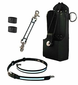 Boston Leather Firefighter s Bundle Reflective Anti sway Strap For Radio Strap
