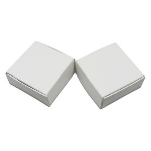 Folded White Kraft Paper Box For Wedding Party Favor Gift Soap Candy Grade Pack