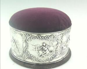 Large Victorian Solid Silver Needlework Sewing Box William Comyns