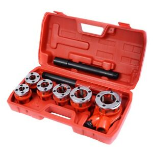 Home Ratchet Ratcheting Pipe Threader Set 6 Dies And Plastic Storage Case Bos Us