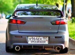 Rear Bumper Diffuser For Mitsubishi Lancer 10 X 2008 2016