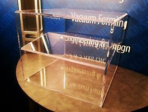 New Clear Acrylic Plexiglass Shoe Display Holder Riser 18 5 Length 18 5 Wide