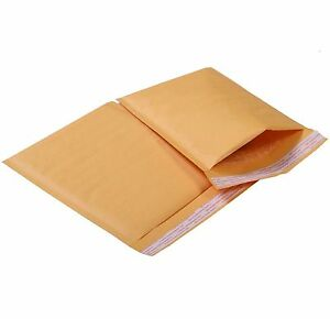 100 Lot 8 5 X 12 Kraft Bubble Mailers Padded Envelopes Self Sealing Bags Free