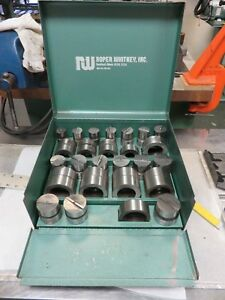 Roper Whitney Punch Die Set 1 Thru 2 Round Di acro Punch Die Punch Press