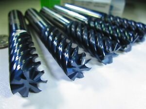 Lot 5 Pcs Helical Carbide 1 2 End Mills 7 Flute Milling Cnc Lathe Tools Bit
