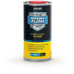 Xado Xtreme Flush For Diesel Truck For Up To 10 Gallons Oil System Cleaner