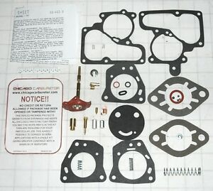 1932 62 Chevrolet Carburetor Repair Kit Carter Yf 1 Barrel 6 Cyl Ethanol Tol