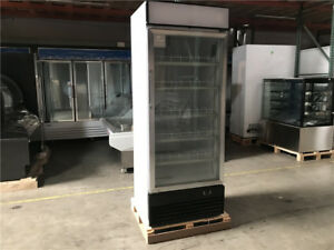 Single Glass Door Merchandiser Refrigerator Cooler Fridge Display Store Case New
