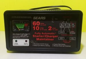 Sears Craftsman 10 2 Amp Automatic Charger tester Starter 6 12 Volt Battery