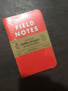 Brand New Starbucks Reserve Field Notes Coffee Origins Sealed 3 Pack