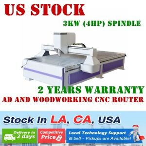Usa 220v 51 X 98 1325 Ad And Woodworking Cnc Router Machine With 3kw Spindle