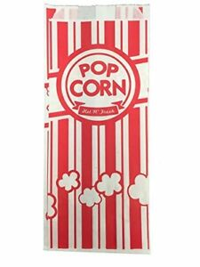 Carnival King Paper Popcorn Bags 1 Ounce Red And White 1000 Pieces