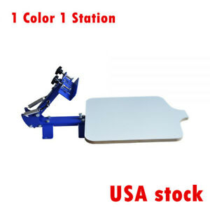 1 Station Single Color Silk Screen Printing Machine For T shirt Diy T shirt us