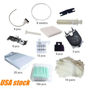 Us maintenance Kit Clean Swabs Wiper Blades Pumps For Roland Rs 540 Rs 640