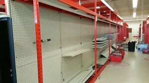 Used Gondola Shelving From Staples Metal Shelves Storage Madix