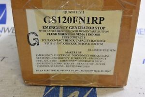 Gs120fn1rp Pilla Emergency Generator Stop W Lid Cover New