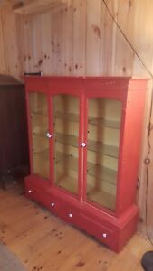 Display Case Cabinet Wood Large Tall Wide Gun Display China Glass