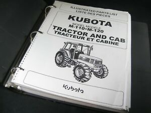 Kubota M110 M120 Tractor Cab Illustrated Parts List Manual Book Catalog Oem