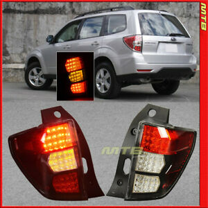 For Subaru Forester 2009 2013 Jdm Style Tail Lights Left Right Side Rear Lamps
