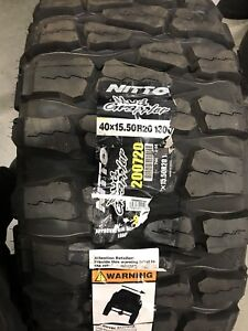 Tires 40x15 50r20lt 130q Nitto Mud Grappler Never Been Mounted