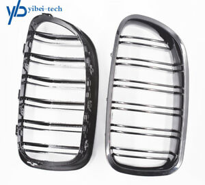 Gloss Black Front Kidney Grille Fit For Bmw F10 528i 535i 550i Sedan M5 2011