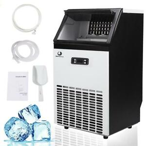 Air Cooled Cube Commercial Ice Maker 50kg Auto Ice Cube Machine 110lbs 230w