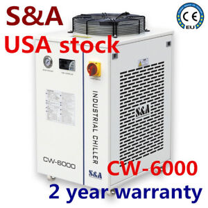 Usa S a Cw 6000dn Industrial Water Chiller For 30w 300w Fiber Laser Cooling 110v