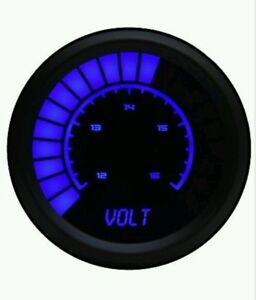 Intellitronix B9015b Led Analog Bargraph Voltmeter 2 1 16 Blue Black Bezel