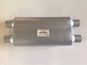 2 Chamber Street Performance Muffler 2 5 dual In out Cross Flow Fb4554 opn