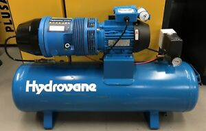 Hydrovane Hv01 Receiver Mounted Rotary Vane Compressor 1 1kw 230v Great Order