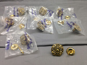 Set Of 8 Anglo American Brass Co Drawer Knobs Pulls Dresser Cabinet Vintage Look