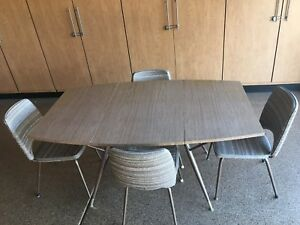 Mid Century Daystrom Dinette Set Gateleg Table W Four Chairs Mcm Nice Shape